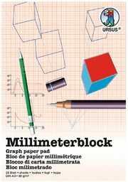 Ursus 7074000 - blok milimetrowy A3, 80 g/m , 25 arkuszy