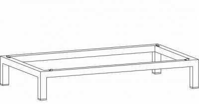 Podstawa na nogach do szafy medycznej PSUM 33 MALOW szer. 120cm