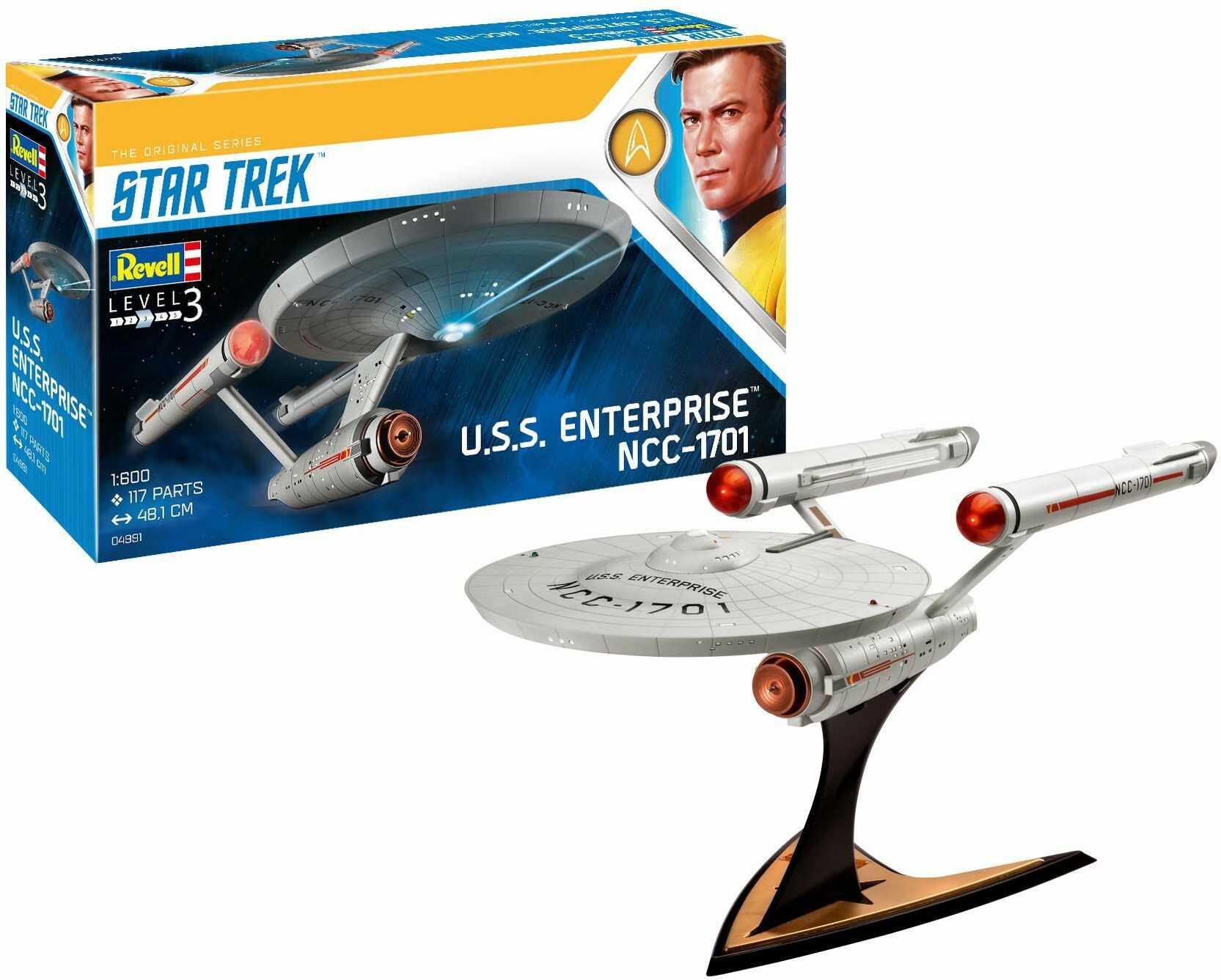 Revell RV04991 04991 4991 1:600 Okręt Enterprise NCC-1701 (TOS) Zestaw plastikowych modeli Star Trek James T. Kirk, różne, 1/600