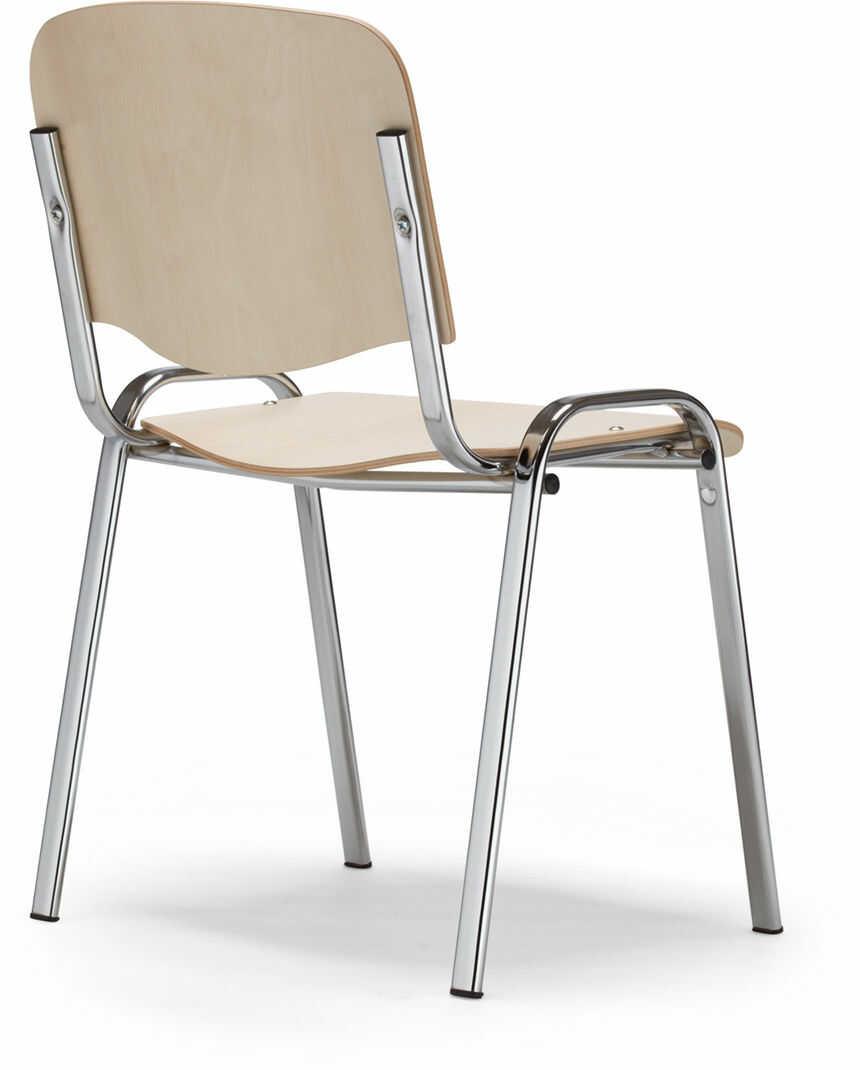 NOWY STYL Krzesło ISO wood chrome