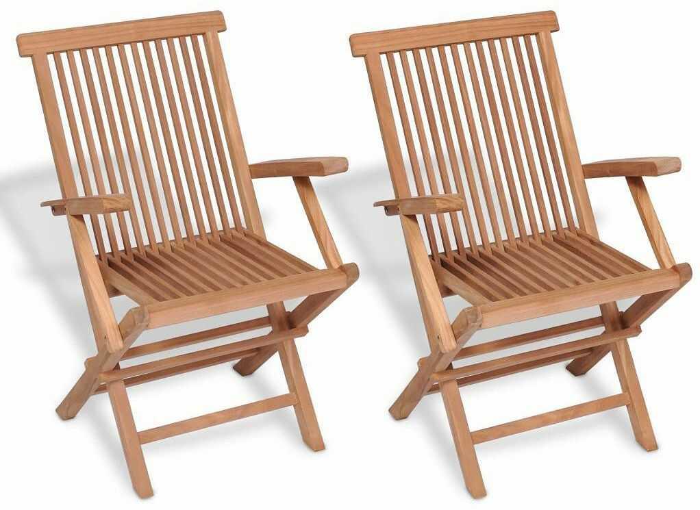 Drewniane krzesła ogrodowe Soriano 2X - 2 szt