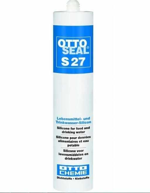 Silikon S27 C01 do kontaktu z żywnością do gastromomii chłodnictwa przem. spożywczy - kolor biały ottoseal