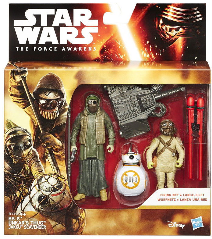 Star Wars - Epizod 7 Figurki 2 pack BB Unkars Thug i Jakku Scavenger B3956 B3955