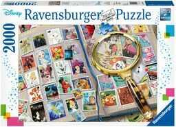 Ravensburger Puzzle 16706 Ravensburger Kolekcja Znaczków Pocztowych 2000 Elementów Puzzle Dla Dorosłych (16706) Unikalne Elementy, Technologia Softclick