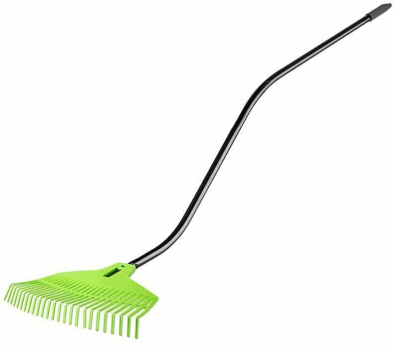 Grabie do liści, głowica z tworzywa 25 zębów, trzonek metalowy, ergonomiczny 15G054
