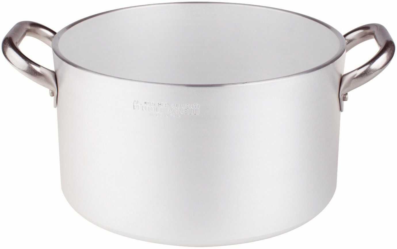 Pentole Agnelli ALMR110428 żarnik cylindryczny o wysokim połysku, profesjonalne aluminium 5 mm, 28 cm