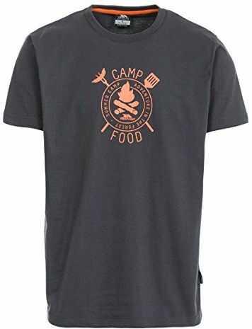 Trespass męska koszulka z krótkim rękawem Adder Krzemień XS