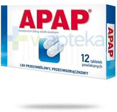 Apap 500mg 12 tabletek