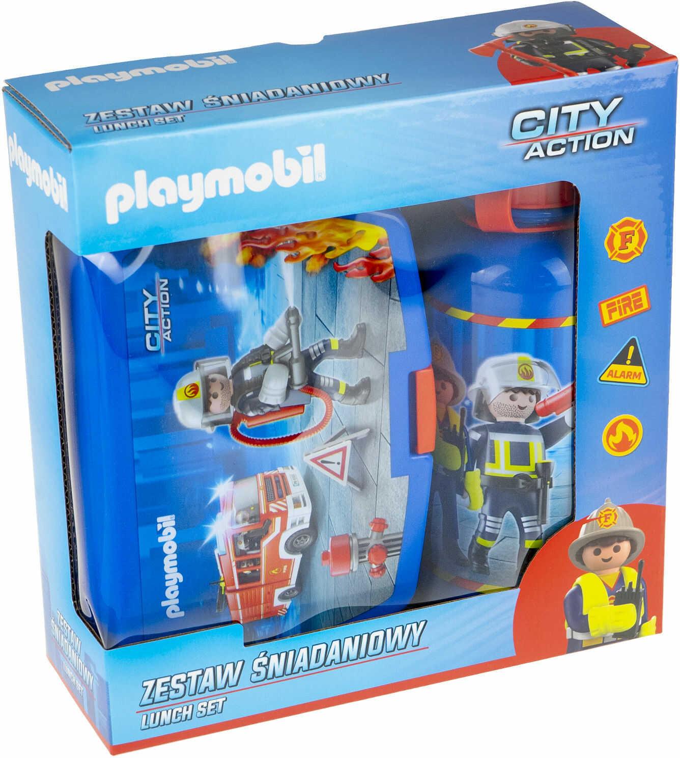 Zestaw bidon + śniadaniówka straż Playmobil PL-07511020001