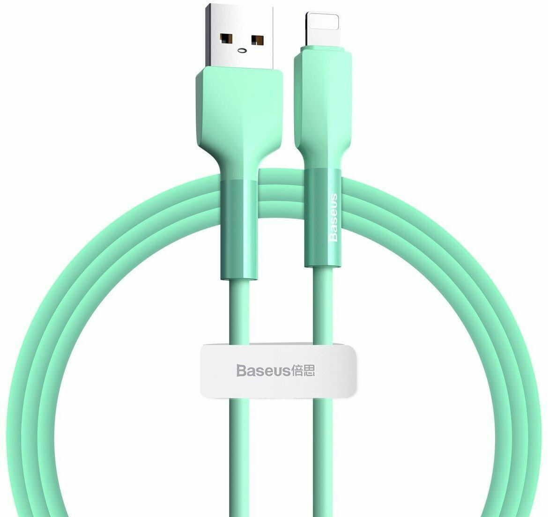 Kabel Lightning USB Baseus Silica Gel, 2.4A, 1m (zielony)