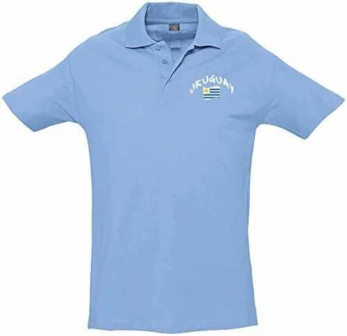 Supportershop Dziecięca koszulka polo Rugby Uruguay M niebieska
