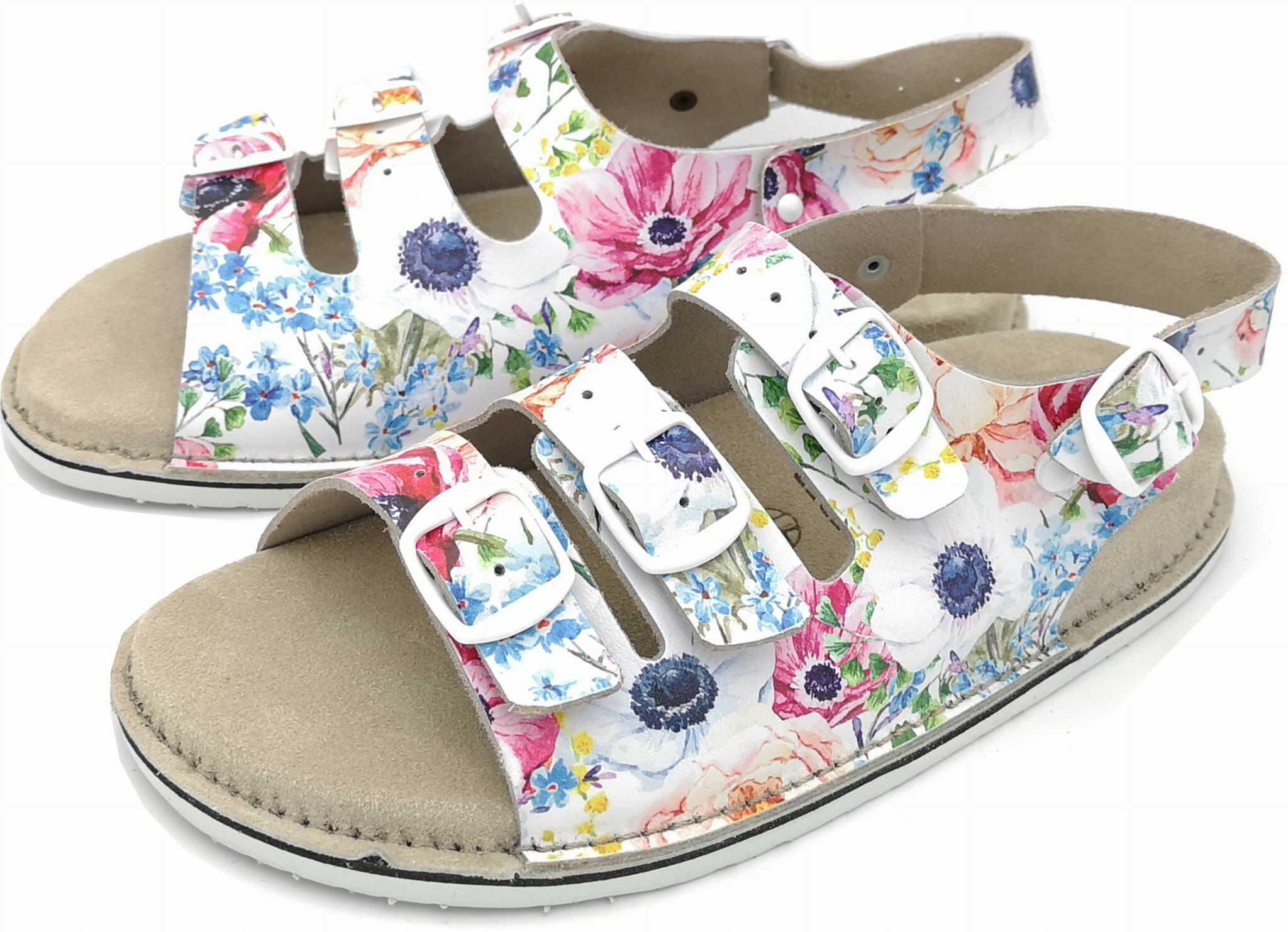 Damskie sandały skórzane Fusbet