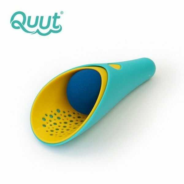 Quut - Zestaw 2 Łopatek Wielofunkcyjnych z Piłeczką Cuppi Lagoon Green + Yellow + Cherry red Ball