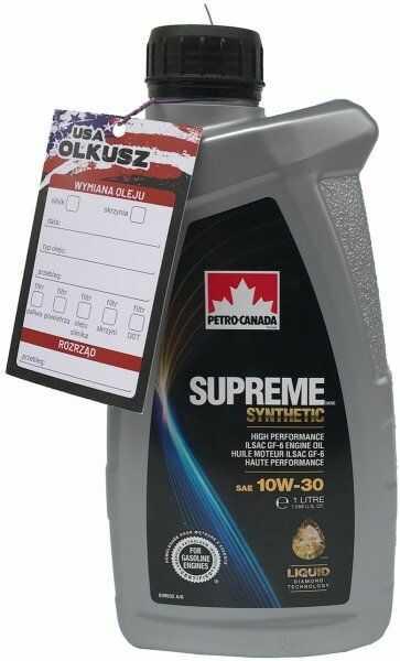 Olej silnikowy syntetyczny PETRO-CANADA SUPREME 10W30 1l