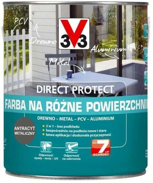 Farba V33 Direct Protect antracyt 2,5 l