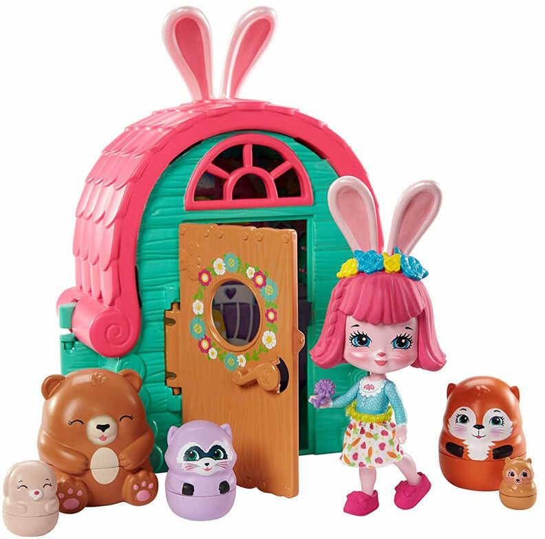Enchantimals - Domek zwierzaczki niespodzianki Chatka Bree Bunny GTM47