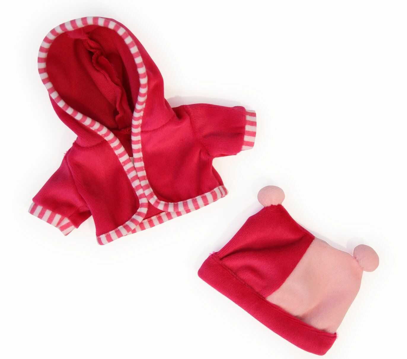 Bayer Design 83060AA ubranie dla lalek około 30 cm, kurteczka z czapką, akcesoria dla lalek, różowa