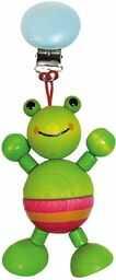 Hess drewniana zabawka 12752  figurka z drewna, żaba, ok. 10 cm