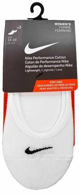Zestaw 3 par stopek damskich NIKE - SX4863 101 Biały