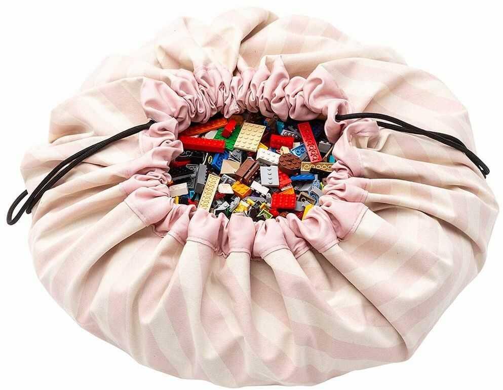 Worek Paski Różowe p&g_stripes_pink-Play&Go, zabawy dla dzieci
