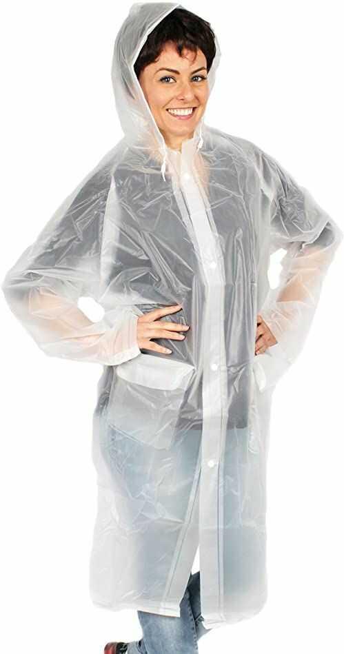 deeel Basics Damski płaszcz przeciwdeszczowy 11079 przezroczysty M