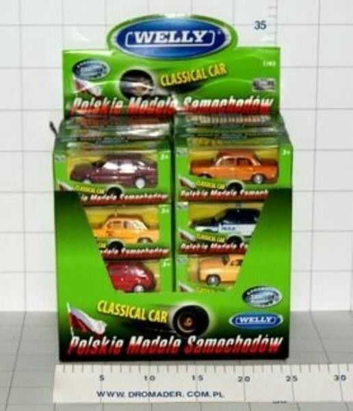 Auto osobowe metalowe 1:43 Welly mix modeli DROMADER 44000