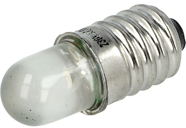 Lampka LED biały E10 230VAC 1100-1600mcd