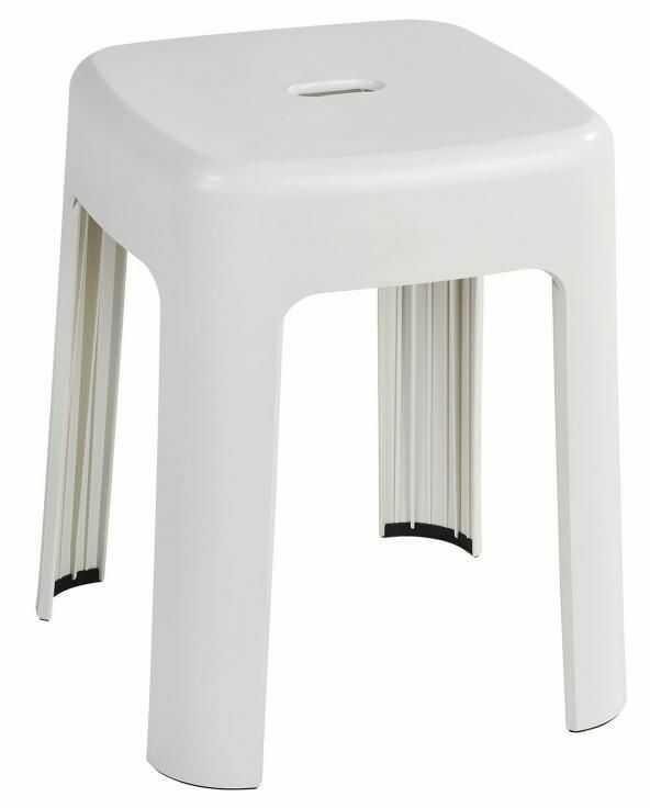 Stołek pod prysznic bez oparcia całoplastikowy