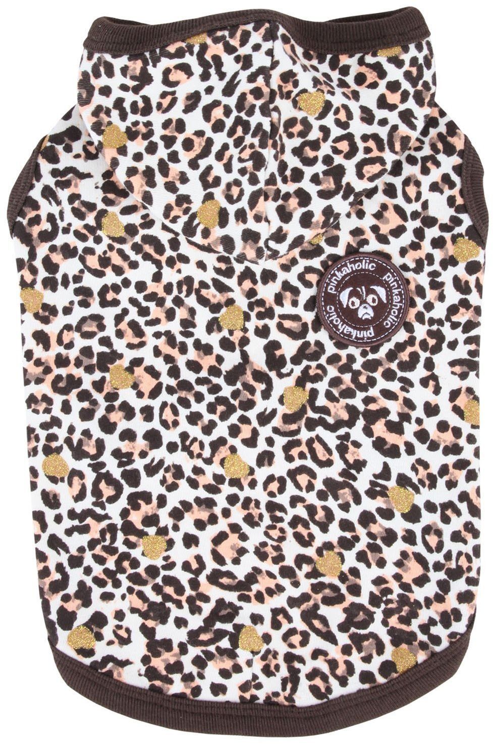 Pinkaholic New York NAPA-TS7112 koszulka dla psa, Leo Pug, S, brązowa