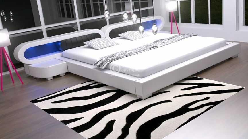 Łóżko Harmony 4xLed meble do sypialni velur