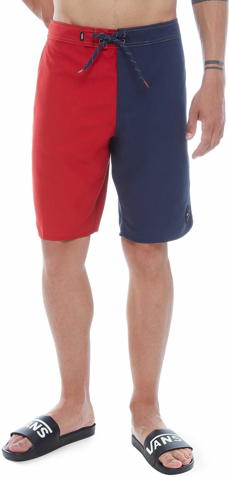 szorty kąpielowe mięske VANS PRIME II BOARDSHORTS Dress Blues/Red