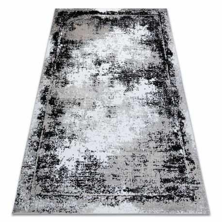Dywan GLOSS nowoczesny 8493 78 przecierany, vintage, stylowy, ramka szary / czarny 80x150 cm