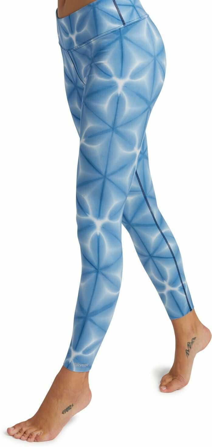 bielizna termoaktywna damska - spodnie BURTON MIDWEIGHT PT Blue Dailola Shibori