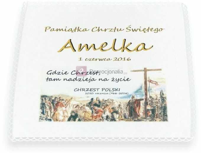 Szatka EDYCJA LIMITOWANA - z emblematem Chrztu Polski