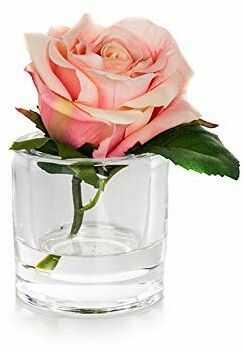 EUROCINSA Ref.87667C21 meble z 1 różą, 4 sztuki, tworzywo sztuczne, szkło, 11 x 14 cm