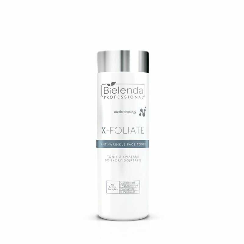 BIELENDA X  FOLIATE Anti Wrinkle Tonik kwasowy do skóry dojrzałej 200ml