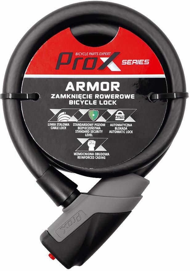 Zapięcie rowerowe ProX Armor pętla 18x1000mm, 2 kluczyki