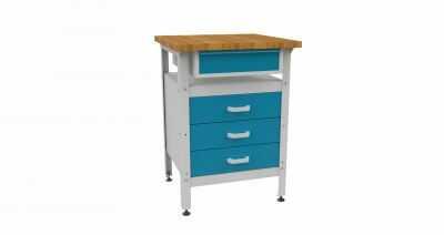 Metalowy stół warsztatowy roboczy z szufladami STW114 600mm