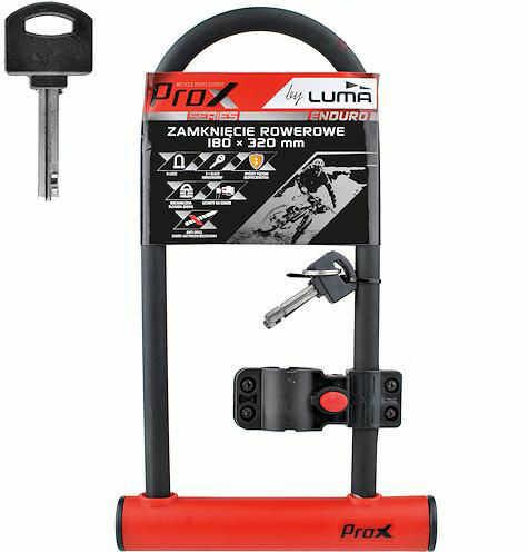 Zapięcie rowerowe ProX U-Lock 180x320mm red 2 kluczyki