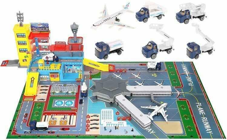 Lotnisko Dla Dzieci + Wiele Dodatków (70 elementów!!).