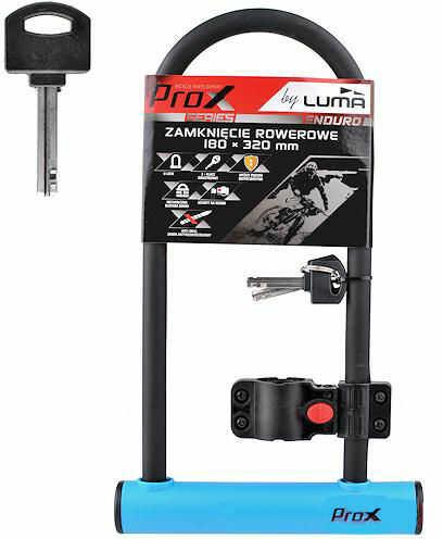 Zapięcie rowerowe ProX U-Lock 180x320mm blue 2 kluczyki