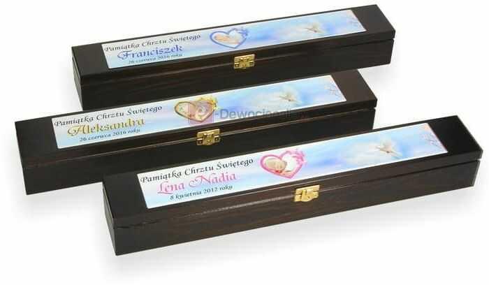 Drewniane pudełko na świecę ze zdjęciem