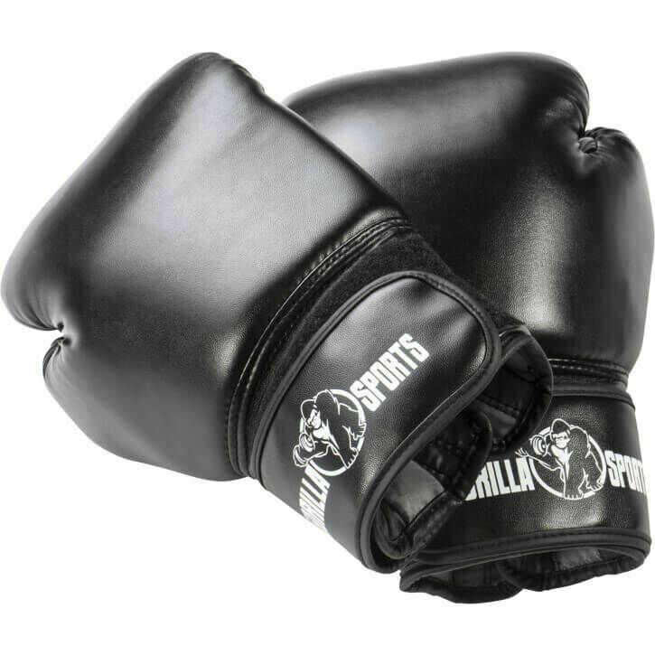 10oz Rękawice bokserskie ze skóry synetycznej zapięcie na rzep Gorilla Sports