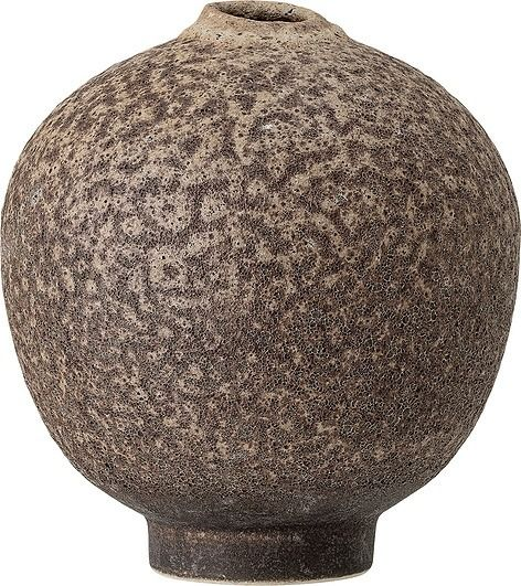 Wazon bloomingville okrągły brązowy kamionkowy