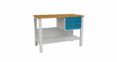 Metalowy stół warsztatowy slusarski STW322 120cm 3 szuflad