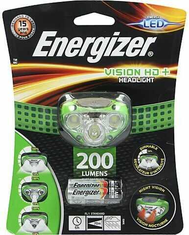 Latarka czołowa LED ENERGIZER VISION HD+ wodoodporna 6h 200lm