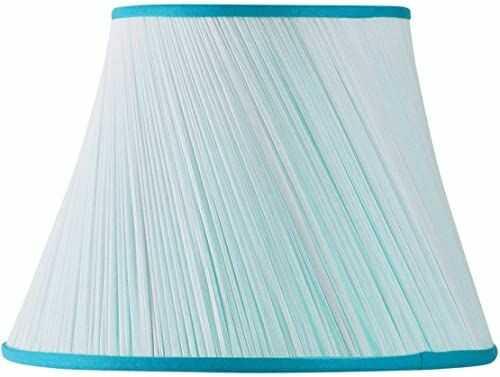 Klosz lampy z szyfonu, 30 x 18 x 20 cm, plisowana, turkusowy
