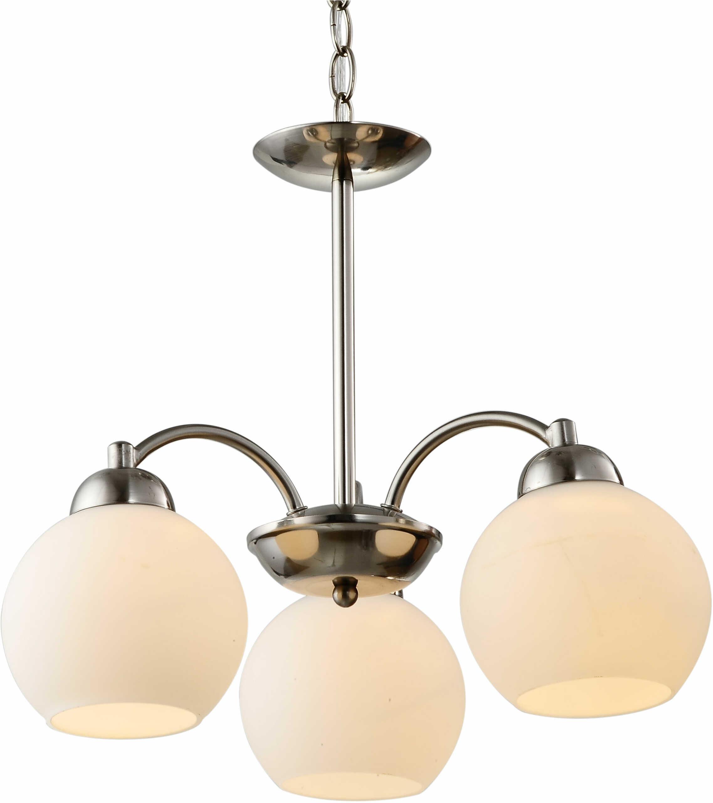 Candellux TOBAGO 33-25456 lampa wisząca szklany klosz 3X60W E27 satyna nikiel 45cm