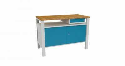 Metalowy stół warsztatowy slusarski STW323 120cm z szafką