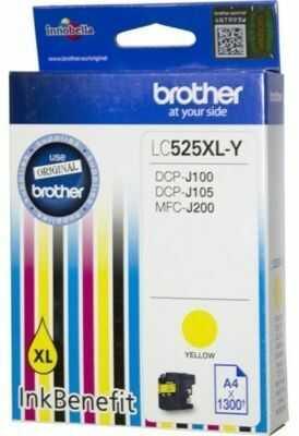 Tusz BROTHER LC-525XLY Żółty